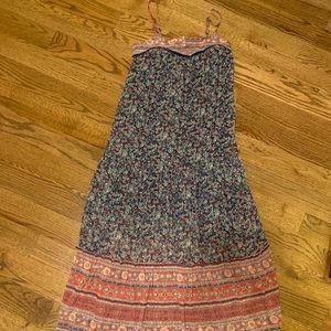 Long size xs patterned maxi dress